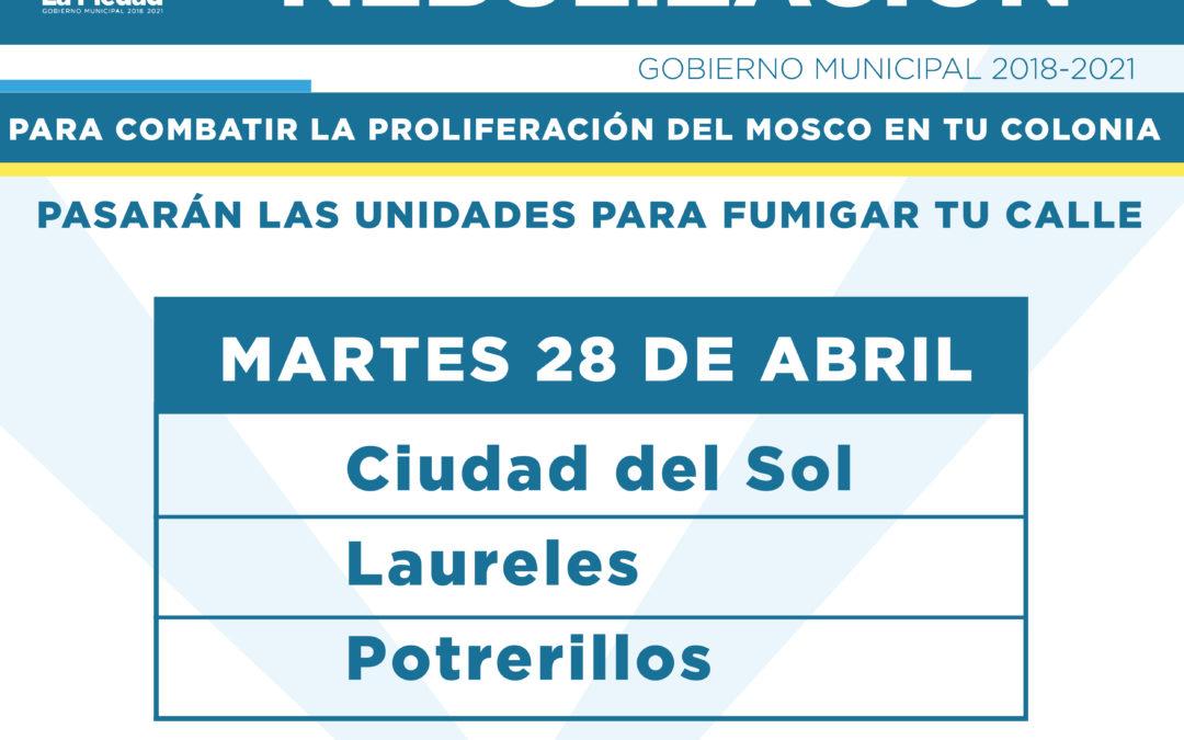 ESTABLECEN ACCIONES PARA REALIZAR NEBULIZACIÓN CONTRA EL MOSQUITO