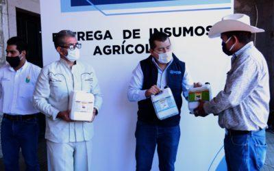 ENTREGA ALCALDE INSUMOS AGRÍCOLAS PARA MEJORAR PRODUCCIÓN