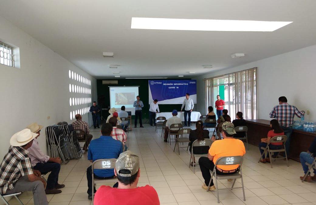 PIDE SECTOR SALUD A ENCARGADOS DEL ORDEN EVITAR EVENTOS EN COMUNIDADES