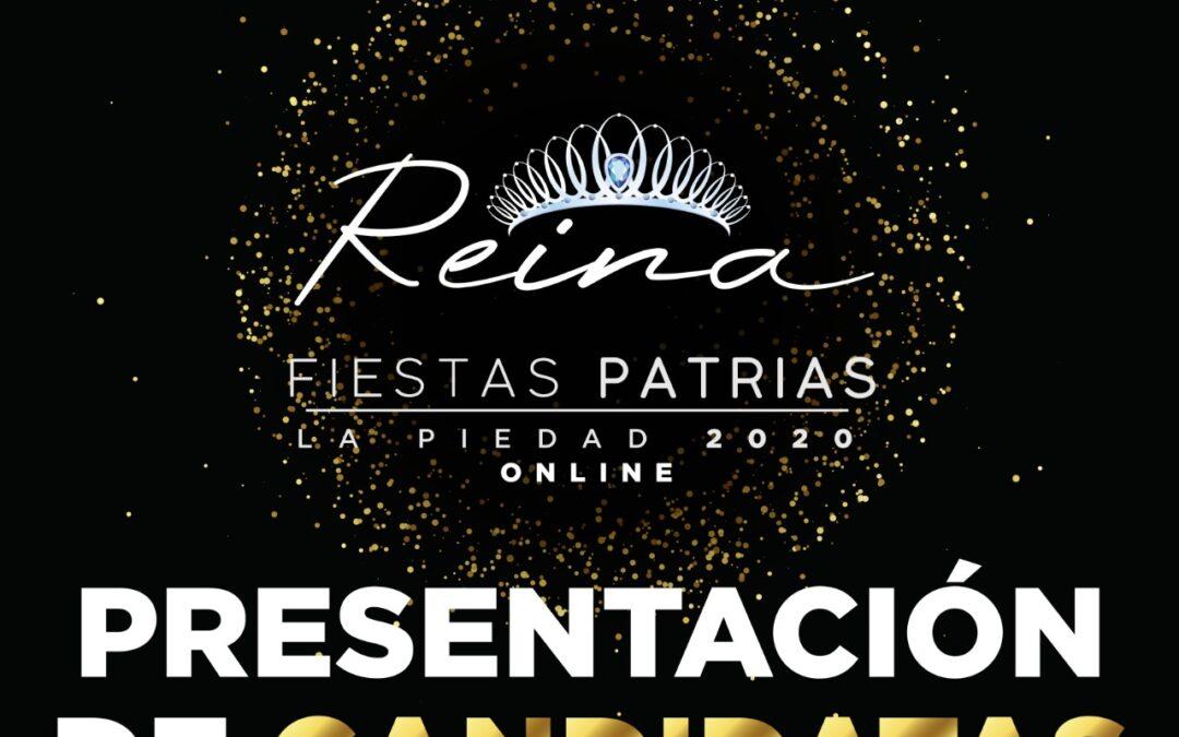 PRESENTACIÓN DE CANDIDATAS A REINA DE FIESTAS PATRIAS SERÁ VIRTUAL
