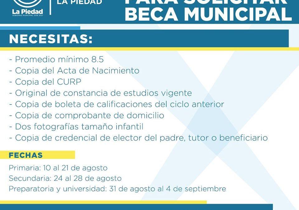 LUNES INICIA RECEPCIÓN DE SOLICITUDES DE BECAS PARA PREPARATORIA Y UNIVERSIDAD
