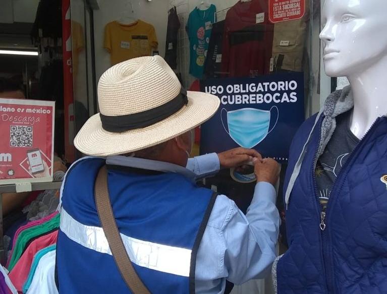 RETOMA REGLAMENTOS CAMPAÑA DE USO DE CUBREBOCAS EN COMERCIOS LOCALES