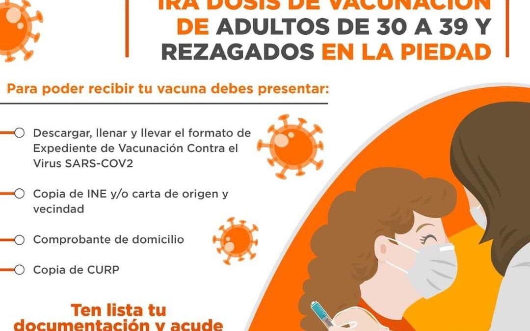 INICIA MAÑANA VACUNACIÓN PARA PERSONAS DE 30 A 39 AÑOS