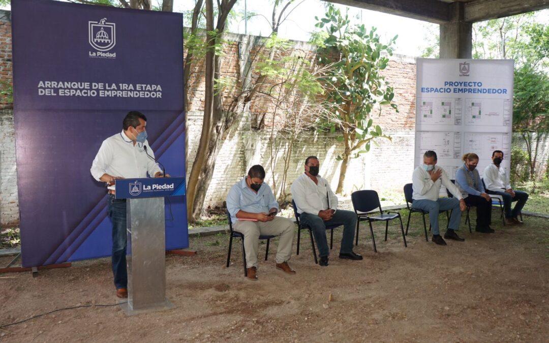 INICIA PRIMERA ETAPA DE CONSTRUCCIÓN DEL ESPACIO EMPRENDEDOR EN LA PIEDAD