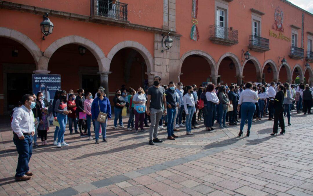 LLEVAN A CABO SIMULACRO DE SISMO EN PALACIO MUNICIPAL
